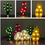 Cactus & Other Shapes Designed Night Lamps
