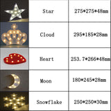 Star Designed Night Lamps