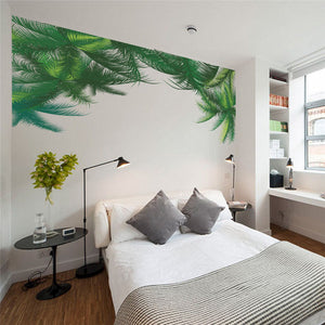 Palm Tree Green Leaf Designed Wall Stickers