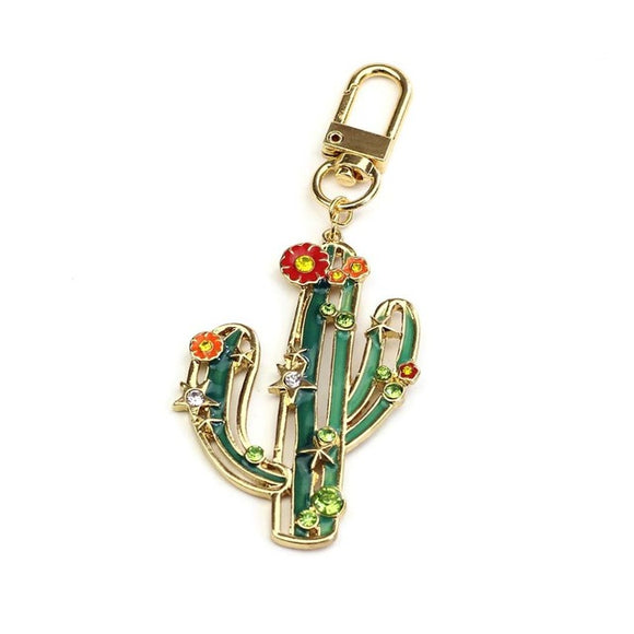 Tropical Cactus Key Chains