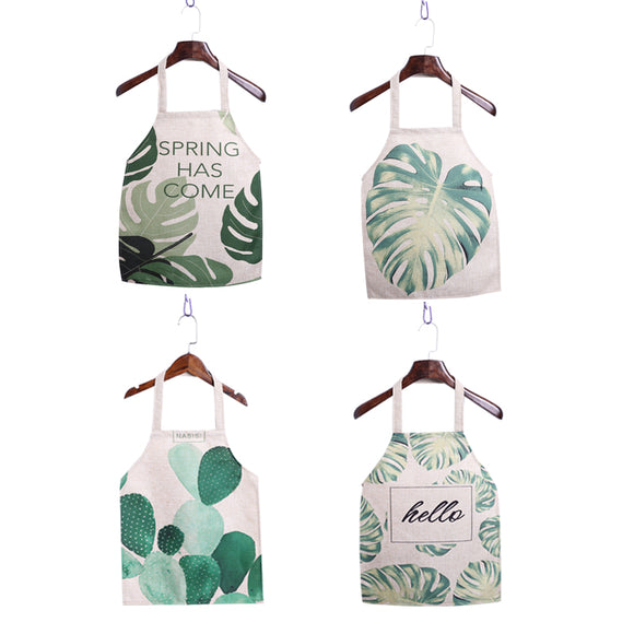 Tropical Leafs Designed Cooking Aprons