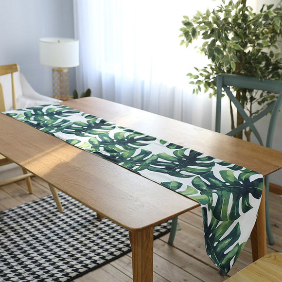 Tropical Plant Table Runner