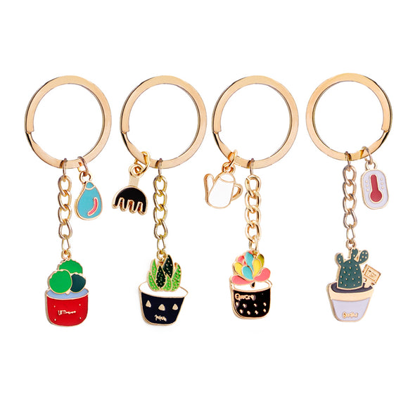 Succulent Designed Key Chains