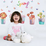 Spring Flowers Designed Wall Stickers