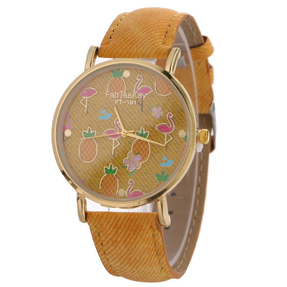 Stylish Pineapple & Flamingo Designed Wrist Watches