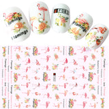 Colorful Tropical Flamingo Nail Art Sticker