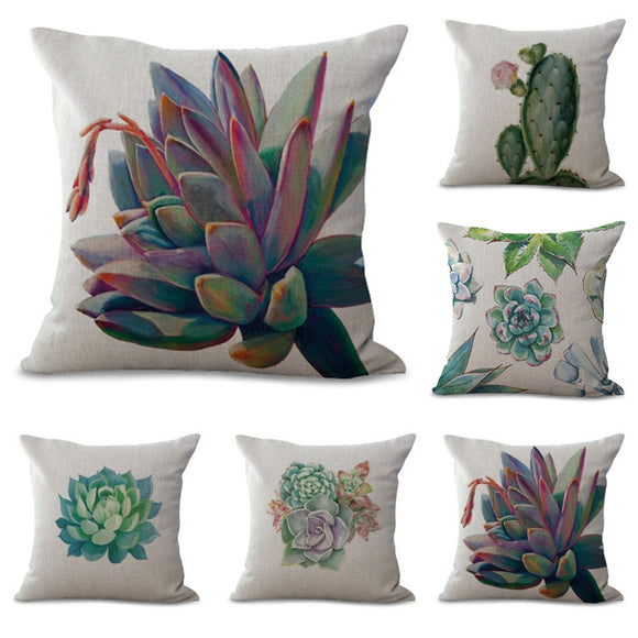 Succulent&Cactus Pillow Cover