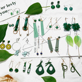 Retro Green Leaves Earrings