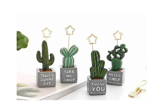 Cactus Designed Table Decoration
