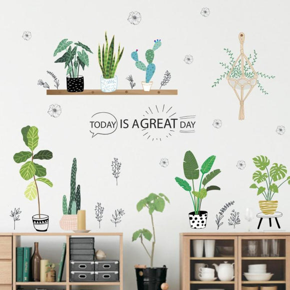 Green Plants Wall Sticker