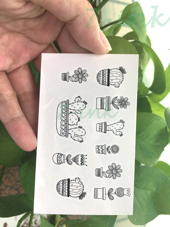 Cactus Waterproof Temporary Tattoo