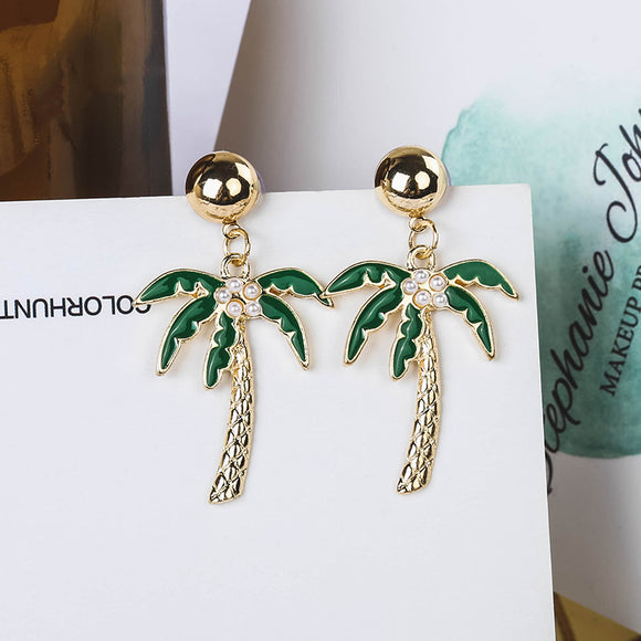 Coconut Palm Earring