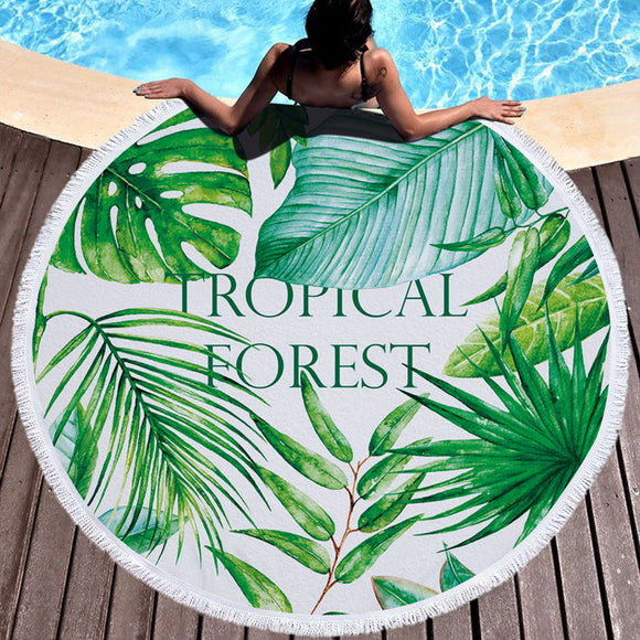 Tropical Design Beach Towel