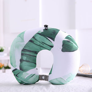 Tropical Leaves Neck Pillow