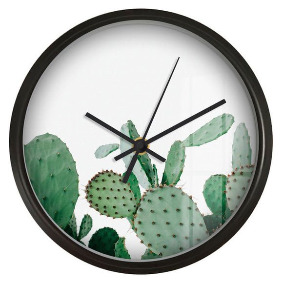 Fresh Cactus Wall Clock