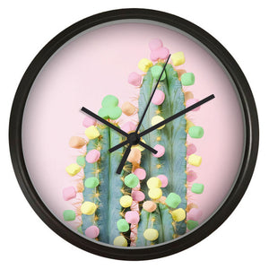 Candy Cactus Wall Clock