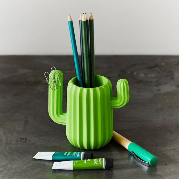 Cute Cactus Shaped Magnetic Pen Holder