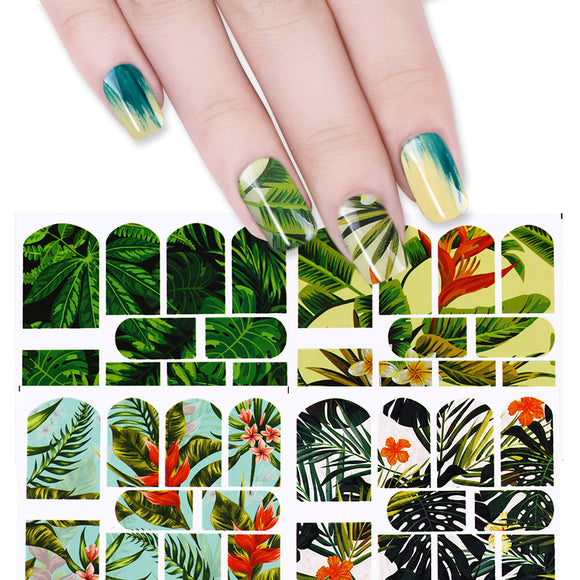 Tropical Plant Nail Stickers