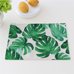 Green Plants Cotton Linen Placemats