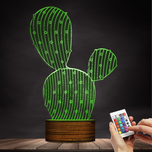 3D Cactus Shape Designed Lamp