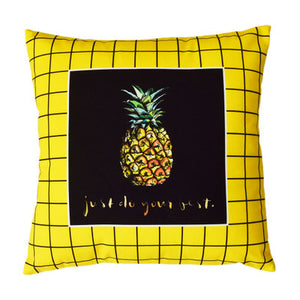 Cactus Pillow Case Yellow