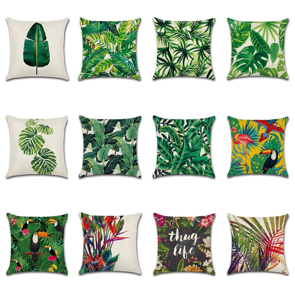 Tropical Designed Pillow Case