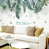 Tropical Tree Leaves Wall Stickers