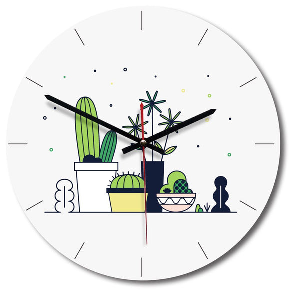 Creative Cactus Design 2 Wall Clock