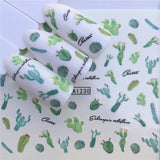 Lovely Cactus Nail Art Stickers