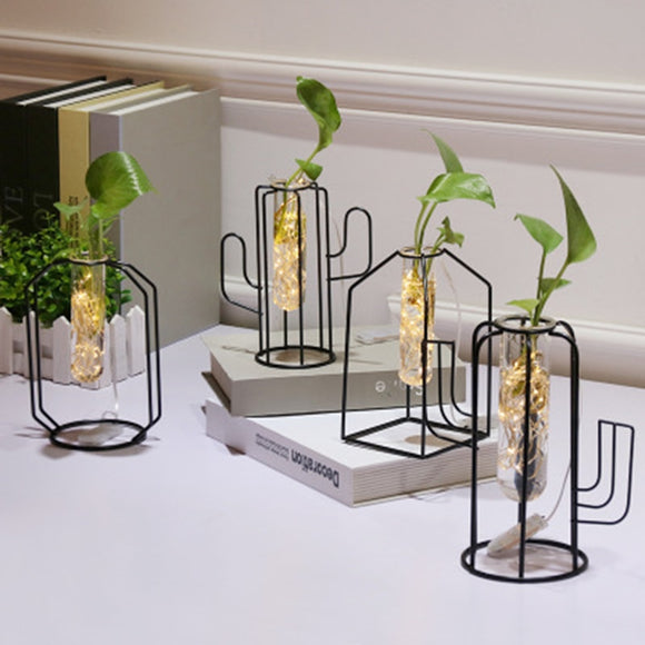 Glass Propagation Stand and Vase