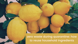 Zero waste during quarantine: How to reuse household ingredients