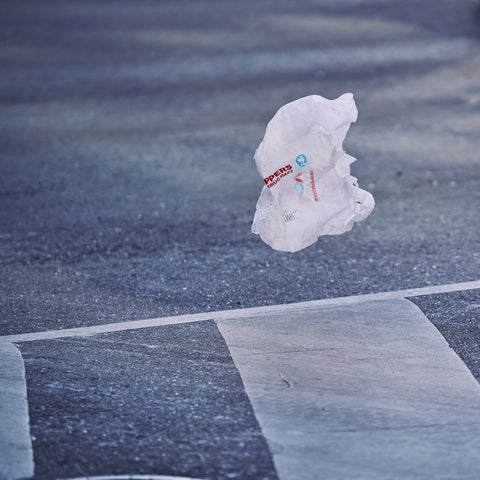 Plastic bag on the street