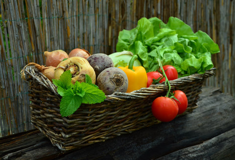 Local vegetables basket