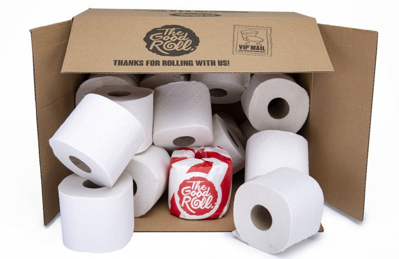 Wrapless Recycled Toilet Paper