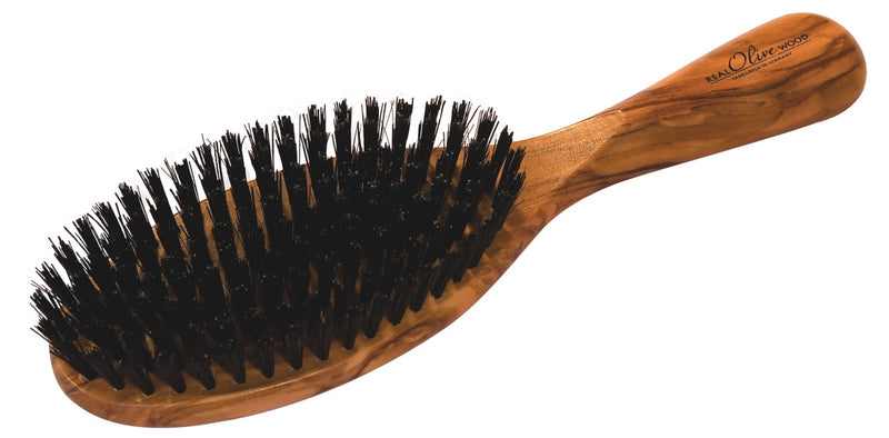 Large Olive Wood Hairbrush