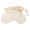 Facial Pads (4 pcs) in Ramie Washing Bag