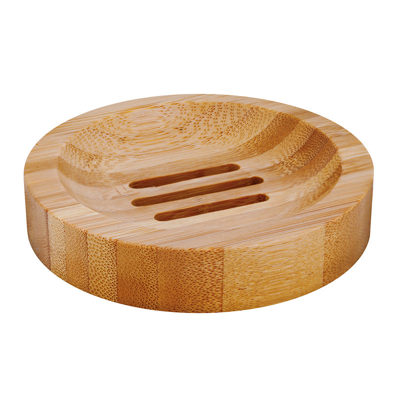 Round Bamboo Soap Holder