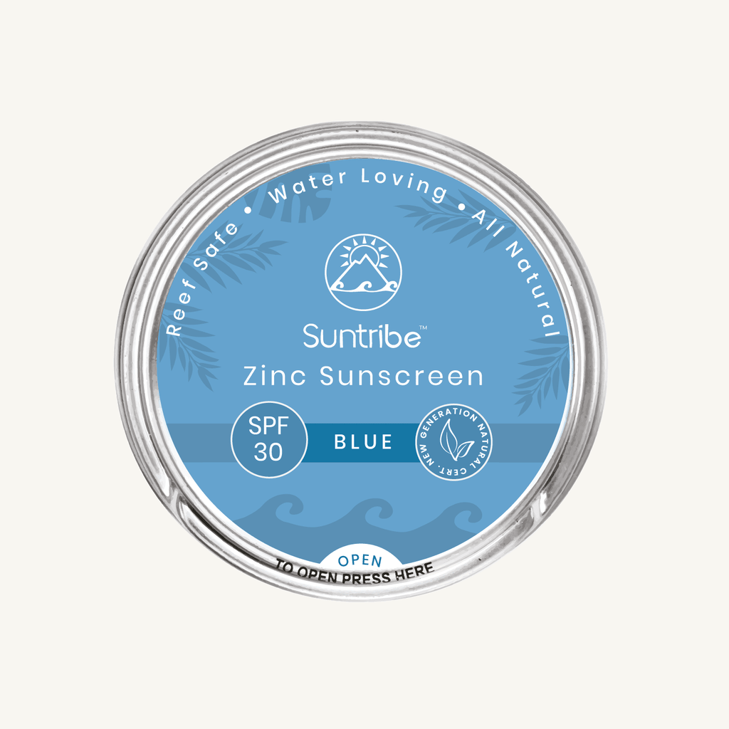 Suntribe Face & Sport Natural Sunscreen - SPF 30 - Blue - Kami