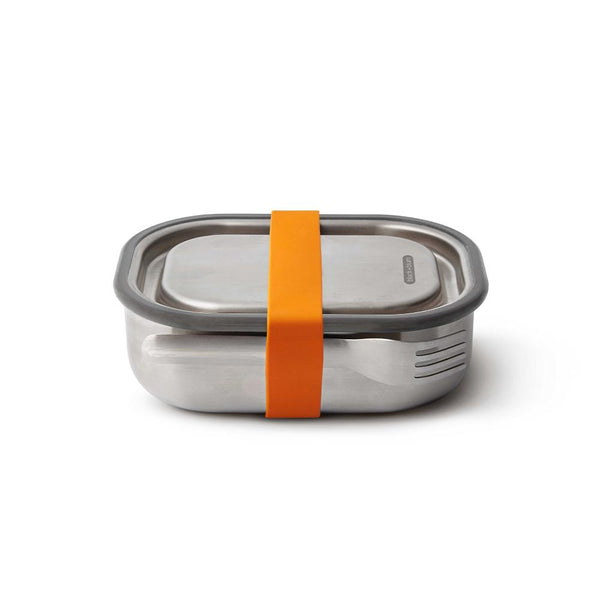 Small Lunch Box with Fork - Orange-Black + Blum-Kami Basics