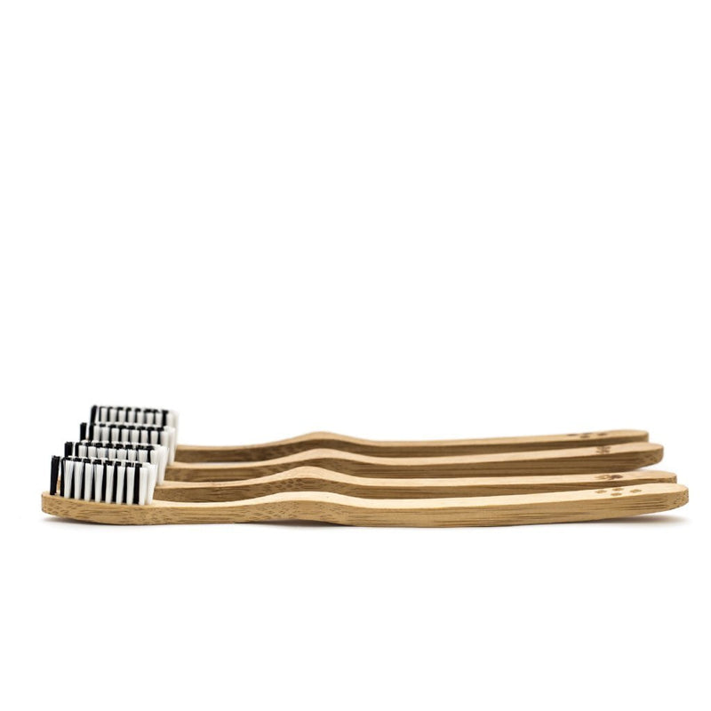 Bamboo Toothbrushes (Pack of 4)-Bambaw-Kami Basics