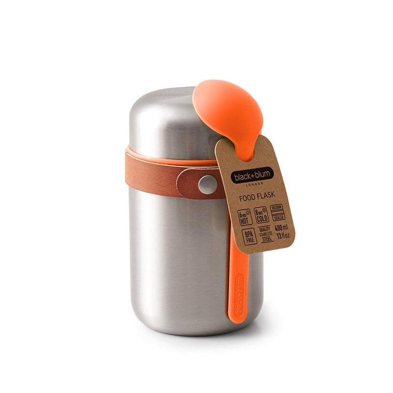 Insulated Food Flask - Orange-Black + Blum-Kami Basics