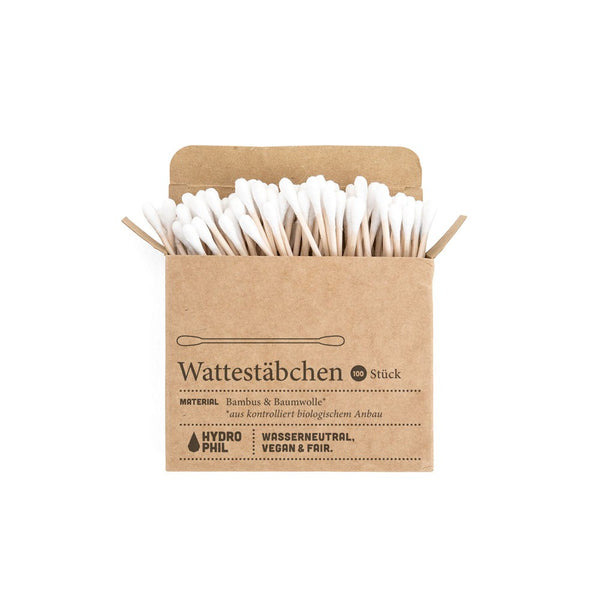 Bamboo Cotton Buds - 100 pieces-HydroPhil-Kami Basics