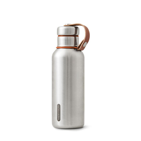 Insulated Water Bottle (500 ml) - Orange-Black + Blum-Kami Basics
