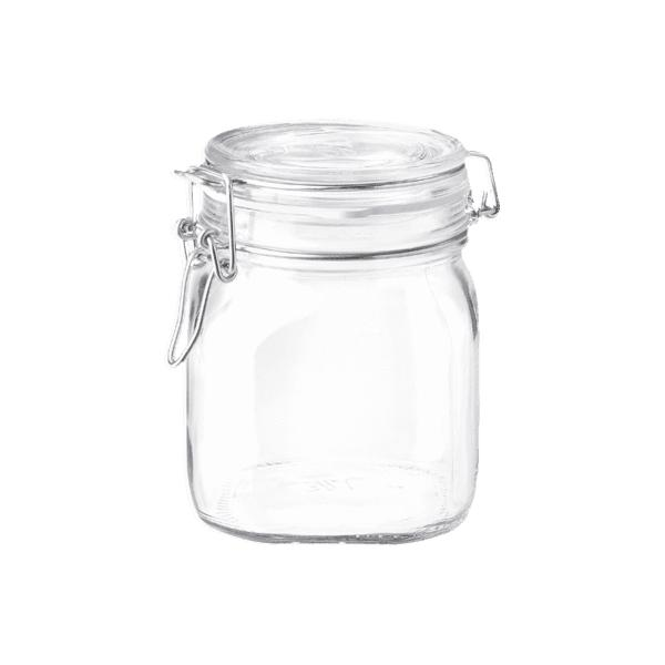 Square Glass Jar 0,75L-Bormioli Rocco-Kami Basics