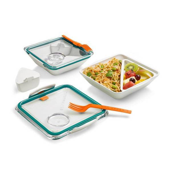 Microwave safe Lunch Box-Black + Blum-Kami Basics