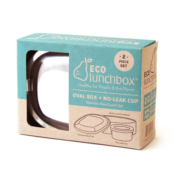 Oval Lunch container & No-Leak Cup-ECOlunchbox-Kami Basics