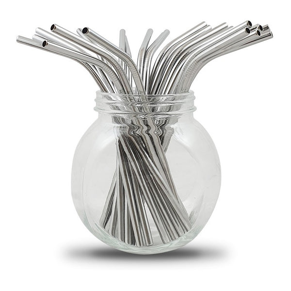 100 Stainless Steel Straws