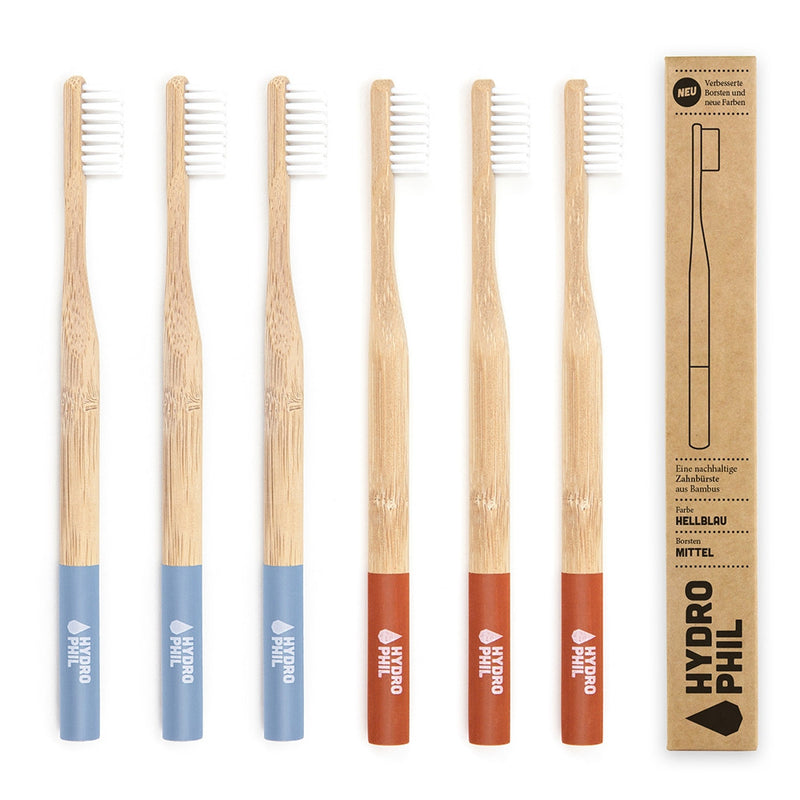 Bamboo Toothbrush Family Pack-HydroPhil-Kami Basics