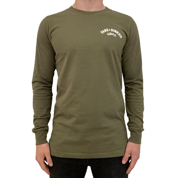 Trademark Vintage Long Sleeve Tee Army Green