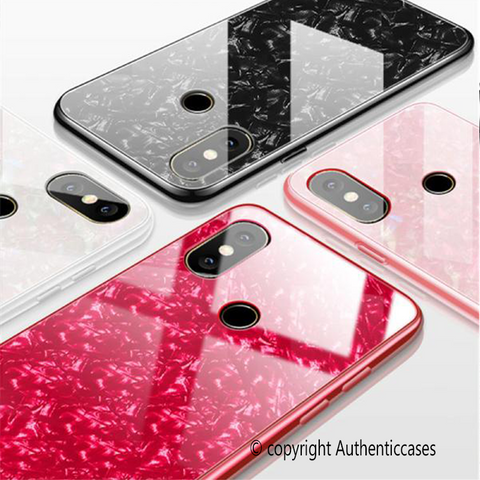 Marble Pattern Tempered Glass Case for Galaxy M20